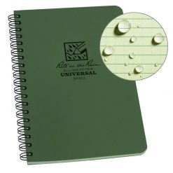 Rite in the Rain Side Spiral Notebook - Green Front Side Closed
