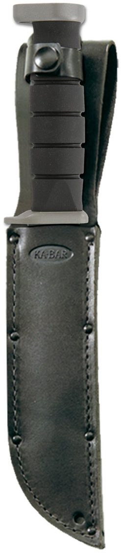 Ka-Bar D2 Extreme Knife D2 Combo Blade Black Kraton G Handle In Sheath