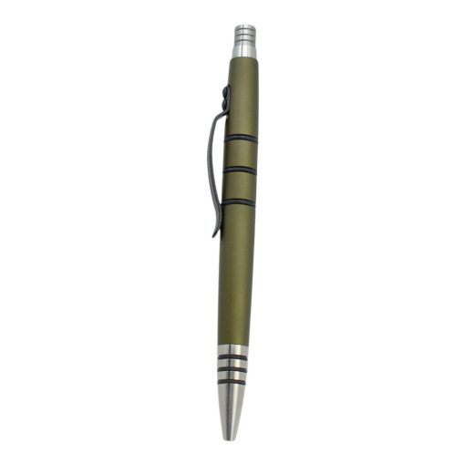 Tuff Writer Mini Click Series - Olive Drab Front Side Vertical