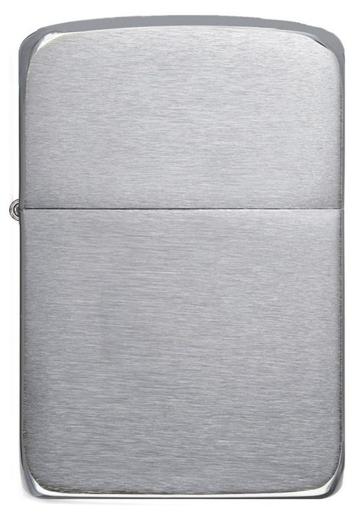 Zippo - Brushed Chrome 1941 Replica Lighter Front Side Closed