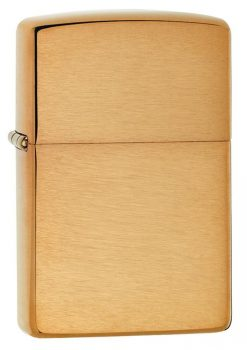 Zippo - Classic Brushed Brass Lighter Front Side Closed
