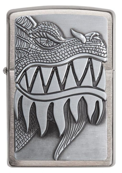 Zippo - Fire Breathing Dragon Lighter Front Side Closed