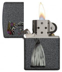 Zippo - Iron Stone Couple Lighter (Set of 2) Front Side Left Open