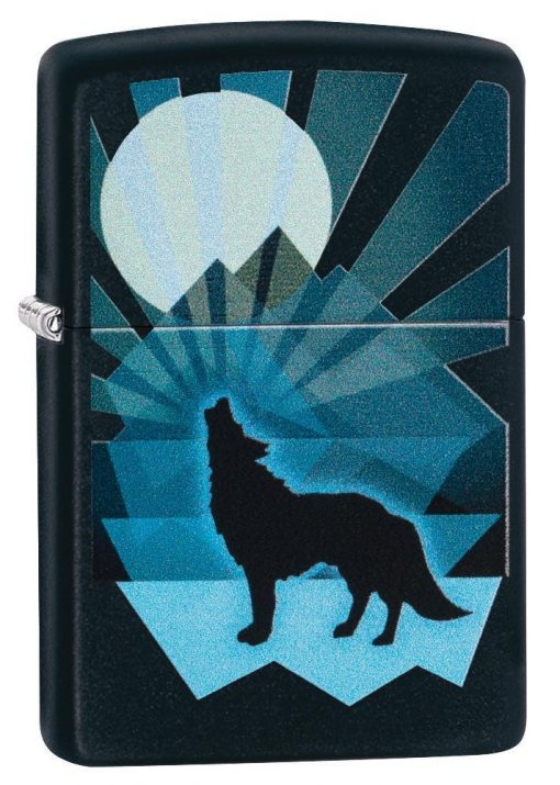 Zippo - Wolf and Moon Lighter Front Side Closed