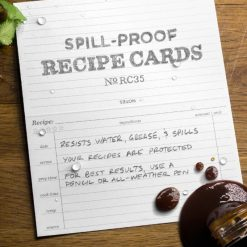 Rite in the Rain Recipe Cards 6x5 - 50 Cards With Written Features