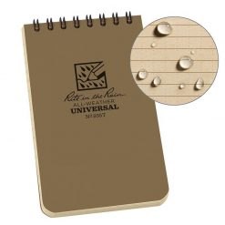 Rite in the Rain Top Spiral Notebook 3x5 - Tan Front Side