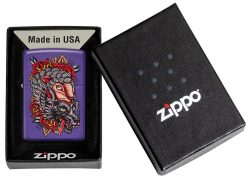 Zippo - Wolf Lighter Front Side Closed In Box