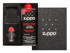 Zippo - Classic Lighter Gift Set Front Side Open