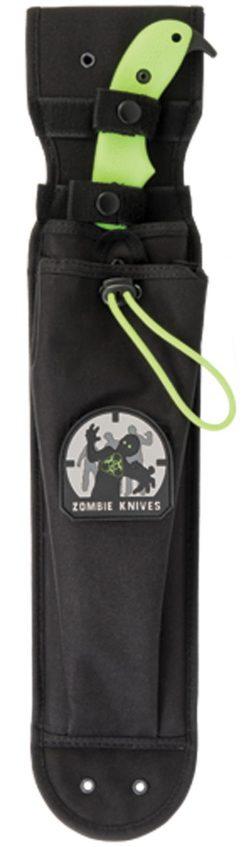 Ka-Bar Zomstro Knife1095 Blade Zombie Green GFN-PA66 Handle In Sheath