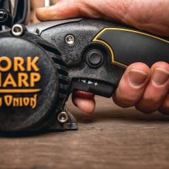 Work Sharp - Ken Onion Edition Knife and Tool Sharpener Side With Hand