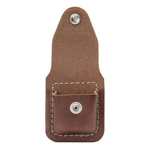 Zippo - Lighter Pouch Loop Brown Leather Front Side Open