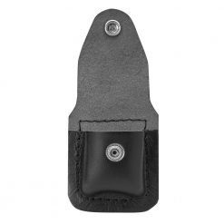 Zippo - Lighter Pouch Loop Black Leather Front Side Open