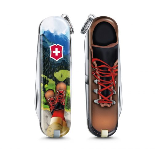 Victorinox Limited Edition 2020 Classic SD - I Love Hiking Front Side Closed and Back Side Closed