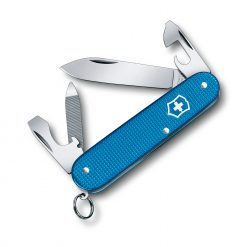 Victorinox Limited Edition 2020 Pioneer Alox Aqua Blue Front Side All Open