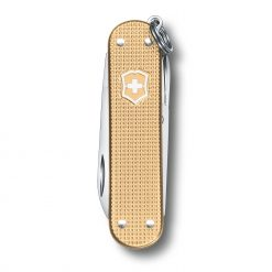 Victorinox Limited Edition 2019 Classic SD Alox Champagne Front Side Closed