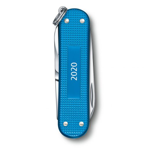 Victorinox Limited Edition 2020 Classic SD Alox Aqua Blue Back Side Closed