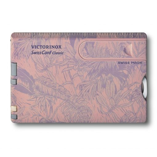 Victorinox SwissCard Classic Spring - Spirit Rose and Lilac Botanical Print Front Side Closed