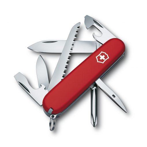 Victorinox Hiker Pocket Knife Red Front Side All Open