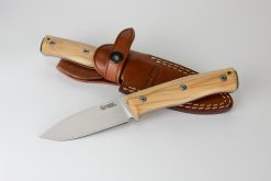 LionSteel B35 Sleipner Steel Blade Olive Wood Handle With and Without Sheath