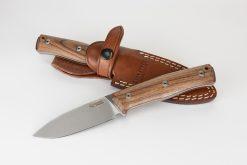 LionSteel B35 Sleipner Steel Blade Santos Wood Handle With and Without Sheath
