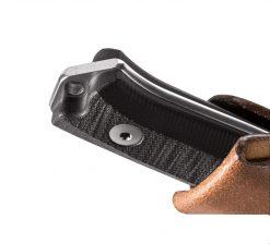 LionSteel B40 Sleipner Steel Blade Black G10 Handle Handle Close Up