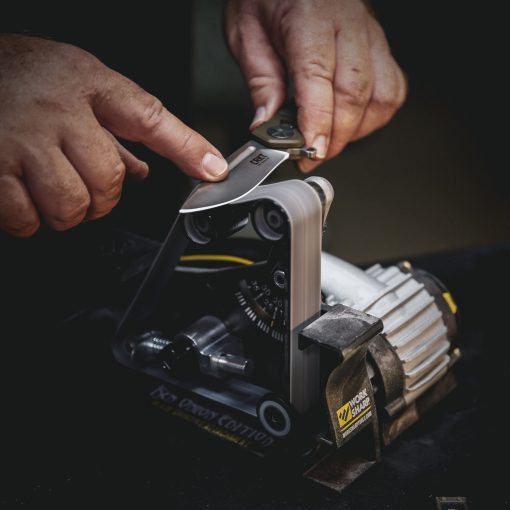 Work Sharp - Blade Grinding Attachment for the Ken Onion Edition Sharpener In use With Hands 2