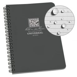 Rite in the Rain Side Spiral Notebook - Grey Front Side Closed