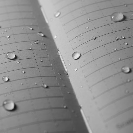 Rite in the Rain Hard Cover Book - Black Pages Close Up