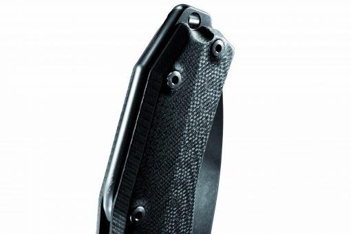 LionSteel KUR Sleipner Steel Black Blade Black G10 Handle Handle Close Up