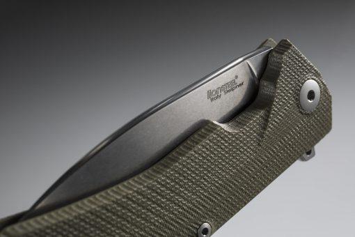 LionSteel KUR Sleipner Steel Blade Green G10 Handle Front Side Closed