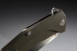LionSteel KUR Sleipner Steel Blade Green G10 Handle Back Side Closed