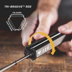 Work Sharp - Precision Adjust Sharpener with Tri-Brasive Tribrasive