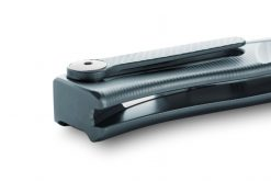 LionSteel Thrill Titanium M390 Blade Blue Titanium Handle SlipJoint Knife Clip Close Up