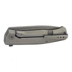 LionSteel Myto Black M390 Blade Black Titanium Handle Back Side Closed