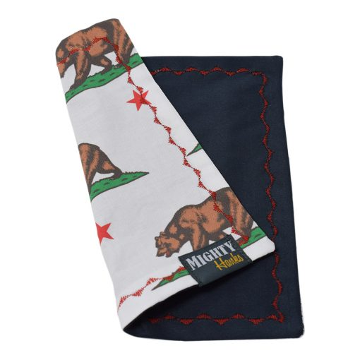 Mighty Hanks California Bear Mighty Mini with Microfiber Back Side Folded
