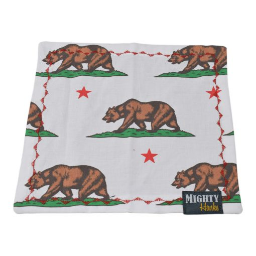 Mighty Hanks California Bear Mighty Mini with Microfiber Front Side Open