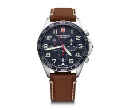 Victorinox - Fieldforce Chrono - Brown Leather Strap Front Side Center