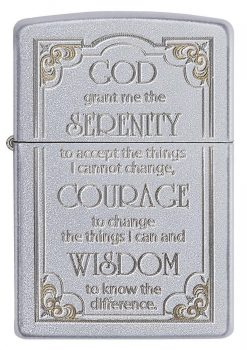Zippo - Serenity Prayer Lighter Front Side Closed