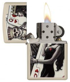Zippo - Skull, King, Queen Beauty Lighter Front Side