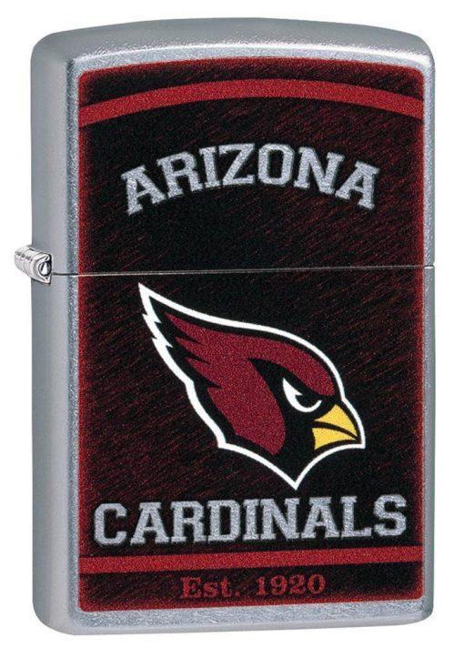 Zippo - NFL Arizona Cardinals Design Lighter Front Side Closed Angled