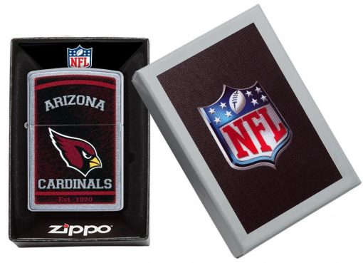 Zippo - NFL Arizona Cardinals Design Lighter Front Side Closed in Box