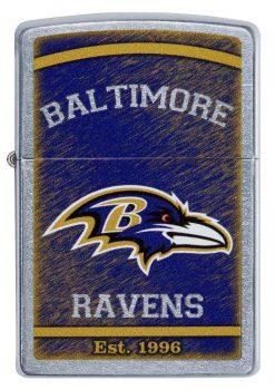 Zippo - NFL Baltimore Ravens Design Lighter Front Side Closed