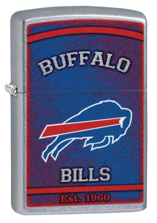 Zippo - NFL Buffalo Bills Design Lighter Front Side Closed Angled