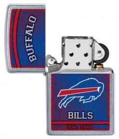 Zippo - NFL Buffalo Bills Design Lighter Front Side Open