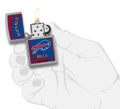 Zippo - NFL Buffalo Bills Design Lighter Front Side Open With Hand Graphic