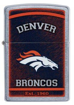 Zippo - NFL Denver Broncos Design Lighter Front Side Closed