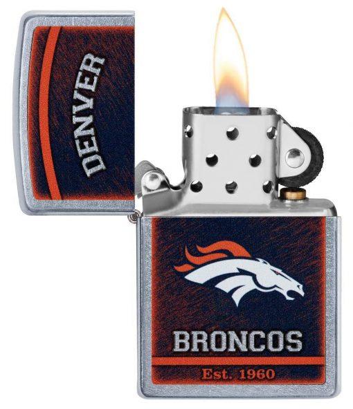 Zippo - NFL Denver Broncos Design Lighter Front Side Open