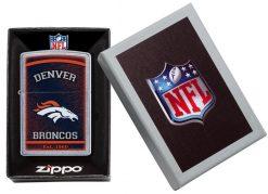 Zippo - NFL Denver Broncos Design Lighter Front Side Closed in Box