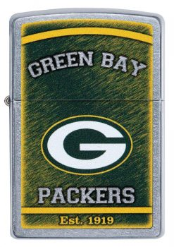 Zippo - NFL Green Bay Packers Design Lighter Front Side Closed