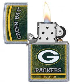Zippo - NFL Green Bay Packers Design Lighter Front Side Open